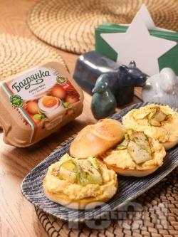 Домашен яйчен пастет със сирене, горчица и с яйца Багрянка - снимка на рецептата